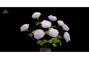 Hướng dẫn làm hoa hồng từ giấy Mylan